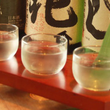 Three types of sake to compare