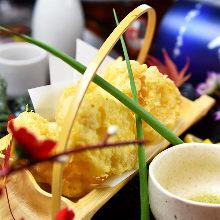 Cream cheese tempura