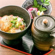 Shake chazuke(salmon and rice with tea)