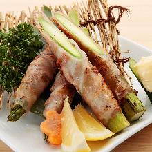 Asparagus pork roll
