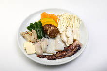 Assorted dish of seafood and vegetables