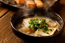Simmered offal with miso