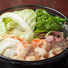 Offal sukiyaki hot pot