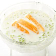 Tapioca in coconut milk
