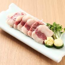 Horse rib meat rice sushi