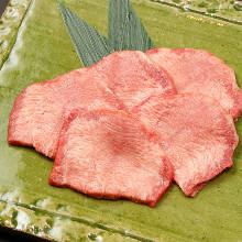 Beef tongue seasoned with salt