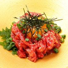 Seared beef tartare