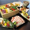"""""""Course of Dish steamed in basket"""" with Agu pork and vegetables directly delivered from producing area"""