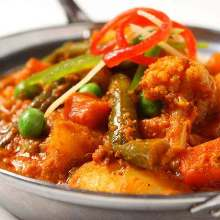 Vegetable and bean curry
