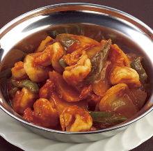 Prawns chilli masala