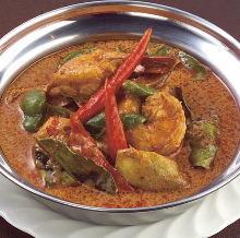 Prawn red curry
