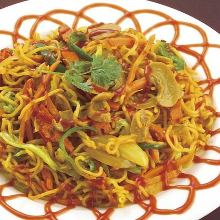 Sherpa-style pan-fried noodles