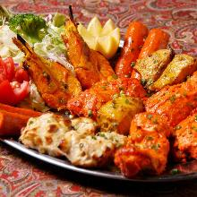 Assorted tandoori platter