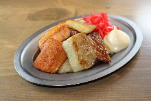 Fried Kamaboko with butter