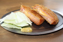 Ham and cheese cutlet