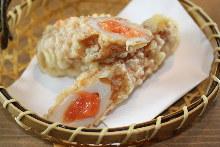 Tube-shaped fish paste tempura