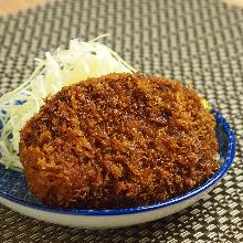 Minced beef tongue cutlet