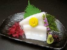 Surume-squid sashimi