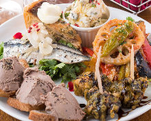 Assorted appetizers of the day