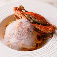 Pasta with crab