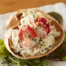 タラバ蟹とズワイ蟹のサラダ
