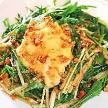 Mizuna salad