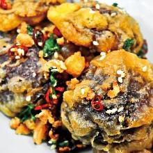 Fragrant fried shiitake mushrooms