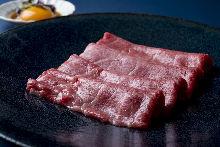 Grilled beef chuck flap sukiyaki
