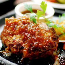 Hamburg steak with onion sauce