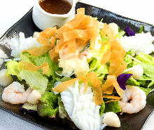 Potato salad with seafood