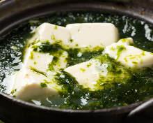 Green seaweed tofu