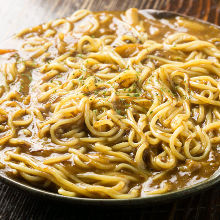 Curried yakisoba noodles