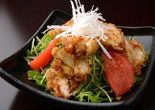 Fried food salad