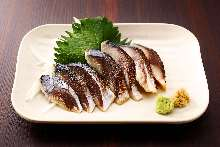 Seared pickled mackerel