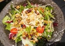 Hummus and five grains salad