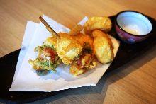 Caprese tempura