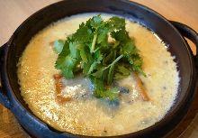 Grilled hanpen with gorgonzola sauce