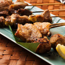 Assorted grilled chicken skewers, 8 kinds