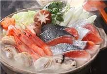 Salmon hotpot