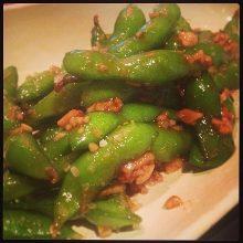 Garlic green soybeans