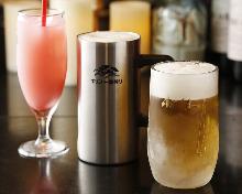 Draft beer Kirin & Asahi