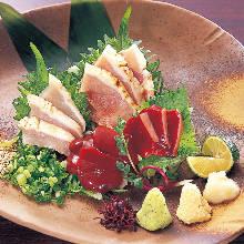 Edible raw chicken