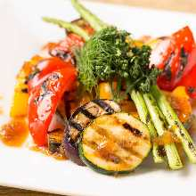 Assorted grilled vegetables
