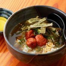 Ume chazuke (plum and rice with tea)