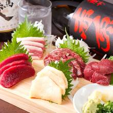 Assorted edible horse meat, 5 kinds