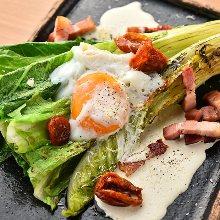 Caesar salad with grilled romaine lettuce