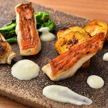 Salted and grilled splendid alfonsino