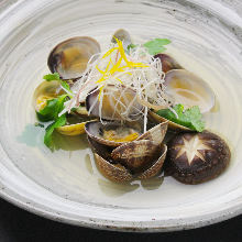 Manila clams steamed with sake