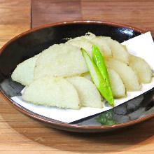 Lightly fried Japanese yam