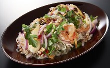 Bean-starch vermicelli salad